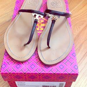 Tory Burch T Logo Flat Sandals